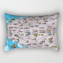 Bubble climbing Rectangular Pillow