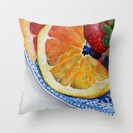 Fruit Plate I Throw Pillow