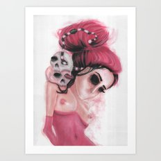 Red Coloured Dreams Art Print