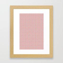 Red Apple Fruit Food Pattern Framed Art Print