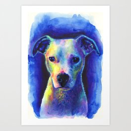 Marilyn the dog Art Print