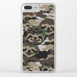 Sloth Camouflage Clear iPhone Case