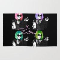 britney Area & Throw Rugs featuring It's Britney B*tch by LA_Graffiti Decor