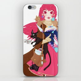 La Princesse des chats iPhone Skin