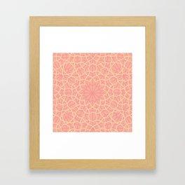 Pink & Cream Islamic Pattern Framed Art Print