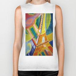 "Robert Delaunay ""Tour Eiffel"" Biker Tank"