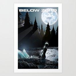Rapid City Below Zero 2 cover Art Print