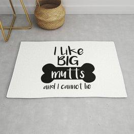 I like big mutts and I cannot lie Rug