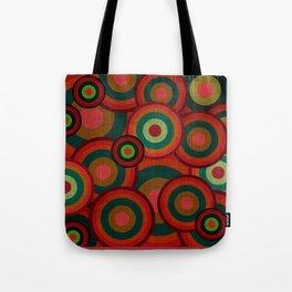 """""""Retro Colorful Circles"""" Tote Bag"""