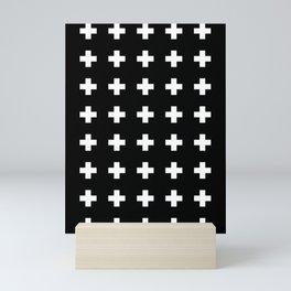 Swiss Cross Black Mini Art Print