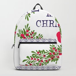 Christmas . Congratulations gifts. Backpack