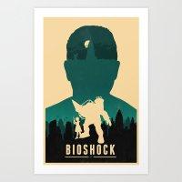 bioshock Art Prints featuring Bioshock by Bill Pyle