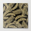 Palm Leaf Pattern Gold And Black by lavieclaire