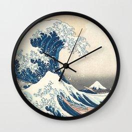 The Great Wave off Kanagawa by Katsushika Hokusai from the series Thirty-six Views of Mount Fuji Art Wall Clock