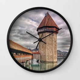 Kapellbrücke Wall Clock