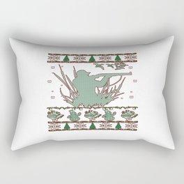 Duck Hunting Christmas Rectangular Pillow
