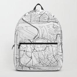 Hamburg Map White Backpack