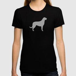 Grey Irish Wolfhound Silhouette T-shirt