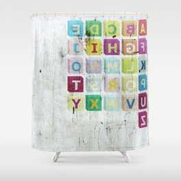 encrypted message Shower Curtain