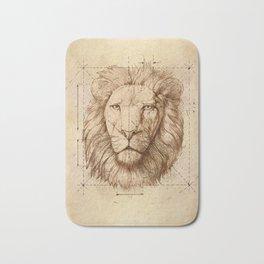 Lion Drawing, Technical Bath Mat