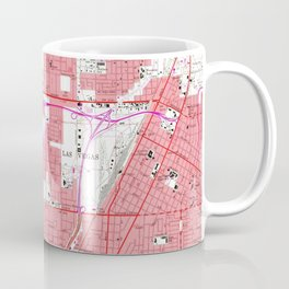 Vintage Map of Las Vegas Nevada (1967) 2 Coffee Mug
