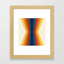 Bright 70's Retro Stripes Reflection Framed Art Print