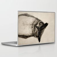 owls Laptop & iPad Skins featuring Owl Sketch by Isaiah K. Stephens