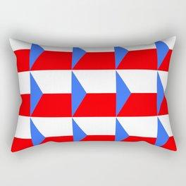 flag of Czech 3 -Czechia,Česko,Bohemia,Moravia, Silesia,Prague. Rectangular Pillow