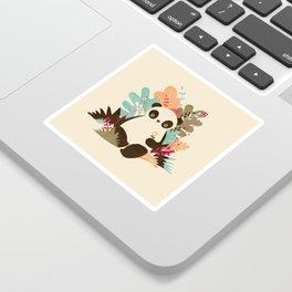 Flower Panda Sticker