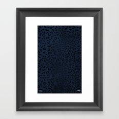 Modern Woodgrain Camouflage / Zaire KDP Print Purple Framed Art Print
