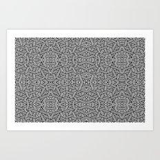 Black and White Vector Art Print