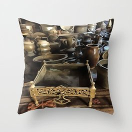 Handcrafted Tin And Copper Kitchenwares Throw Pillow