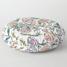 Peonie And Rose Floor Pillow
