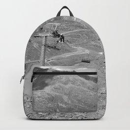 chairlift repair kaunertal alps tyrol austria europe black white Backpack
