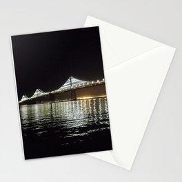 Bay Bridge Night Time Stationery Cards