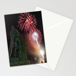 Fourth of July Fireworks in Gloucester Stationery Cards