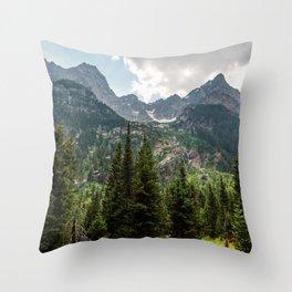 Grant Teton National Park Cascade Valley Throw Pillow