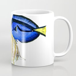 Coral Fish, tropical fish artwork, coral sea world Coffee Mug