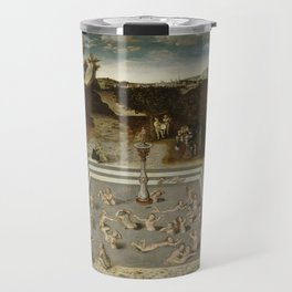 Lucas Cranach Der Jungbrunnen Fountain Of Youth Travel Mug