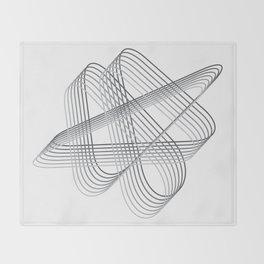 Neverending lines Throw Blanket