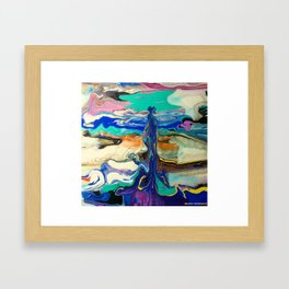 Contrary fluidity Framed Art Print