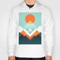 outdoor Hoodies featuring Everest by Picomodi