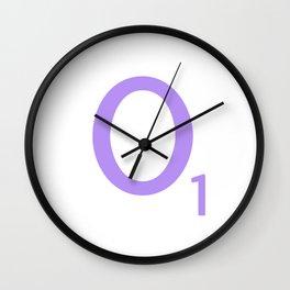 Lavender O Letter Art Scrabble Monogram Wall Clock