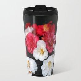 Red and White camelia Travel Mug