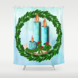 No Need for Words Peace Candle Shower Curtain