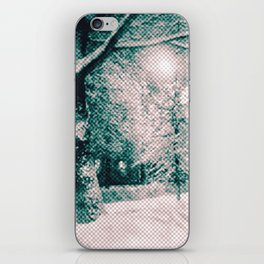 Winter wonderland. Halftone effect iPhone Skin
