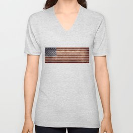 USA Stars and Stripes Banner - Imagine this as the focal point at your next banquette! Unisex V-Neck