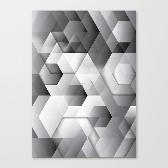 Black geometrics Canvas Print
