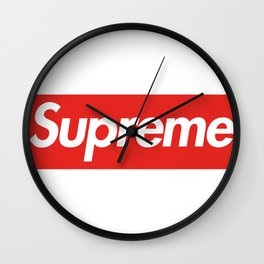 supreme new hot 2017 2018 red word sticker original Wall Clock