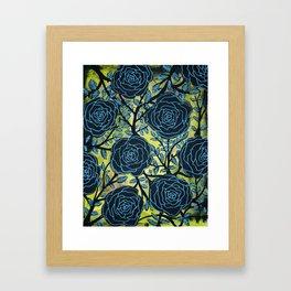 Black and Blue Framed Art Print